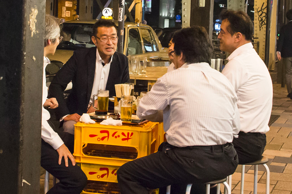 Japanese men drinking