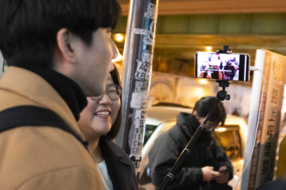 Japanese people selfie stick