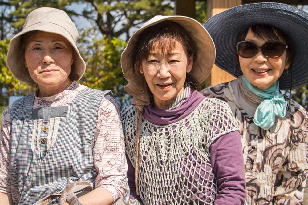 Three Japanese female seniors